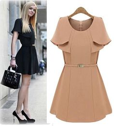 Morpheus Boutique  - Beige Trench Celebrity Designer Pleated Belted Dress, $119.99 (http://www.morpheusboutique.com/products/beige-trench-celebrity-designer-pleated-belted-dress.html)