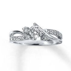 Diamond Fashion Ring 3/4 carat tw Round-cut 14K White Gold