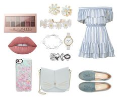 """""""Sin título #806"""" by ary-polyvore-outfits ❤ liked on Polyvore featuring LoveShackFancy, Ted Baker, Casetify, Humble Chic, Skagen, Lime Crime and Maybelline"""