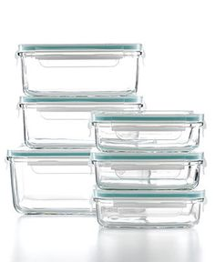 I like these elegant glass storage containers (Martha Stewart Collection).  Nicer than plastic, easier to clean, and they won't get to looking scratched and worn.