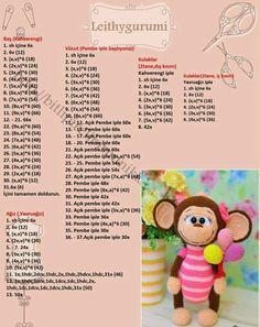 Amigurumi Mesh Toy Ballon Lu Monkey Making Handmade Crotchet Patterns, Crochet Amigurumi Free Patterns, Crochet Animal Patterns, Crochet Doll Pattern, Afghan Crochet Patterns, Stuffed Animal Patterns, Crochet Animals, Crochet Dolls, Doll Patterns