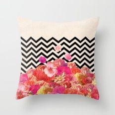 Chevron Flora II Throw Pillow by Bianca Green Floor Pillows, Bed Pillows, Pillow Fight, Pillow Talk, Dot And Bo, Pillow Shams, Decorative Throw Pillows, Decor Styles, Modern