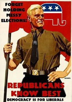 Forget holding messy elections. Republicans know best. VOTE THE NAZI GOP OUT!