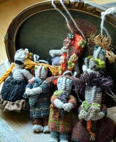 Sophie Digard / Tiny doll crocheted wool necklace