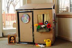 Reutiliza las cajas de cartón y construye una casa de cartón para los más pequeños