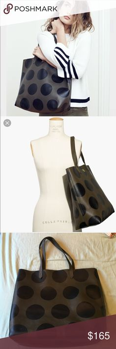 Madewell polka dot transport tote Brand new with tag. Real leather. Sold out . Price firm unless bundle. Madewell Bags Totes