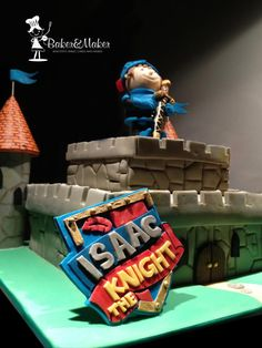 Mike the Knight Cbeebies Cake, all hand modelled.