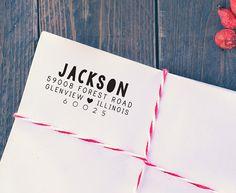 Custom Address Stamp, Wedding Return Address Stamp, Heart, Self ...