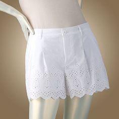 White Eyelet Shorts By Jennifer Lopez For Kohl's