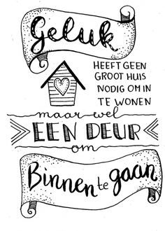 Tekstkaart Geluk Sad Quotes, Words Quotes, Wise Words, Quotes To Live By, Round Robin, Bullet Journal Notes, Quotes About Everything, Dutch Quotes, Types Of Lettering