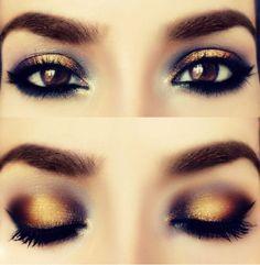 Inspírate con estas ideas de maquillaje en tonos dorados para que le des un toque de brillo a tu mirada en el día o la noche o para un evento especial.