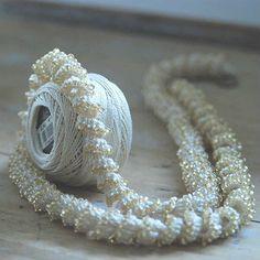 Spiral beads crochet necklace KIT