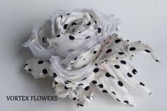 Синтетический цветок в жёсткой технике цветоделия. Icing, Coconut, Leather, Style, Ornaments, Flowers, Accessories, Clothing, Swag