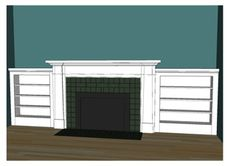 Craftsman Style Fireplaces With Bookcases   Craftsman fireplace mantel with traditional side bookcase cabinets ...