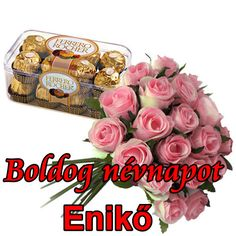 Boldog névnapot Enikő - Megaport Media Share Pictures, Animated Gifs, Name Day, Happy Birthday, Halloween, Watch, Happy Brithday, Clock, Saint Name Day