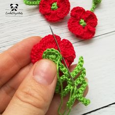 Crochet Pattern plants - mini poppy flower Miniature flowers can be used for educational games with children, as accessories for dolls and toys, as decorations for hats or dresses. Crochet Animal Patterns, Crochet Doll Pattern, Crochet Patterns Amigurumi, Knitting Patterns, Handmade Ideas, Handmade Crafts, Knitting Toys, Crocheted Toys, Educational Games
