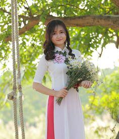 Ao Dai Vietnam Cach Tan Silk Hi Collar Steel Blue Floral Sizes Available