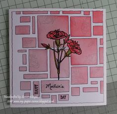 My Paper Corner: Carnations for Mother's Day