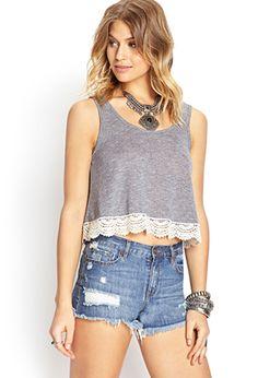 Soft Stripe Crochet Tank | FOREVER21 - 2000068609 || $11.80