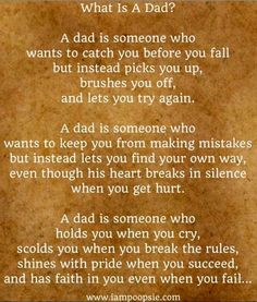 Wish one particular dad would read this...maybe he'd see how he treats his children