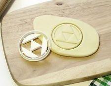 The Legend of Zelda Link Triforce Cookie Cutter Cupcake Topper Fondant Cutter