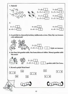 Albumarchívum - Mesés matematika Preschool Worksheets, Home Schooling, Hush Hush, Kids Learning, Sheet Music, Bullet Journal, Archive, Puzzle, Children