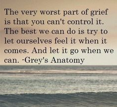 The very worst part about grief.. #greys