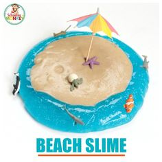 Fun At the Beach Sand Slime Recipe Kids Will Love!