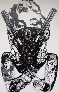 Gangster Marilyn Monroe Tattoo Design photo - 1