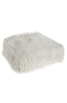 Nordstrom at Home Nordstrom at Home Cuddle Up Faux Fur Pouf available at #Nordstrom