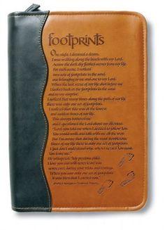 Footprints Italian Duo-Tone Bible Cover