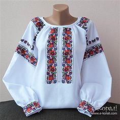 Polish Embroidery, Folk Embroidery, Embroidery Fashion, Embroidered Clothes, Embroidered Blouse, Ethno Style, Mexican Fashion, Stylish Dress Designs, Mod Dress
