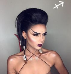 Les-maquillages-de-signes-du-zodiaque-de-Setareh-Hosseini-1-sagittaire