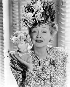 """Known for her various hats!! Her gossip column called """"Hedda Hopper's Hollywood"""" debuted in the Los Angeles Times on February 14, 1938. Description from pinterest.com. I searched for this on bing.com/images"""