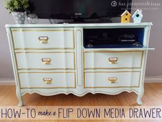 How to make a flip down drawer