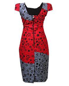 Star africaine robe imprimée robe maxi par CoCoCremeCouturier