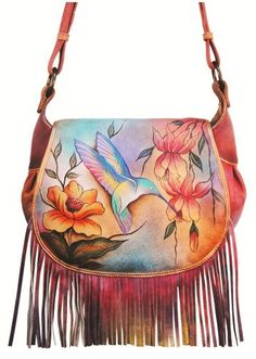 New Arrivals, Fashion Is My Bag - Anuschka Flying Jewels Fringed Flap Saddle Bag, $265.00 (http://www.fashionismybag.com/anuschka-flying-jewels-fringed-flap-saddle-bag/)