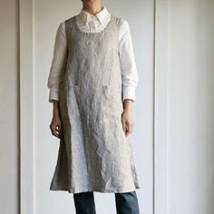 Linen apron - for when the other romantic apron was drying on the line.