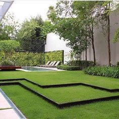 Your backyard landscaping is going to have to be about many different things but the most important one of these if your well being. Most people get into backyard landscaping because they want to change the look and feel of their home Modern Landscape Design, Landscape Plans, Modern Landscaping, Front Yard Landscaping, Garden Stairs, Garden Architecture, Exterior, Contemporary Landscape, Garden Planning