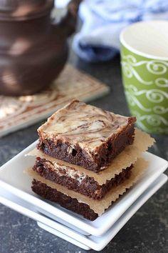 Irish Cream Cheesecake Marbled Fudge Brownies | Cookin' Canuck