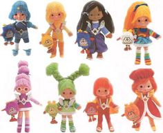 We owned Canary Yellow and Red Butler in the doll form. Rainbow Brite was in the bigger form, as were Twink and Spark the Sprites.