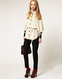 Pretty Vacant Knitted Cape Cardigan  $64.69