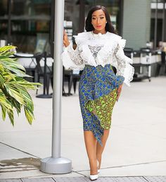 Hello fashionistas, check out these 5 super dope ankara styles from Chic Ama Style. The wife and mum is very fashionable and knows how to rock great looks/ African Wear, African Dress, African Style, Skirt Fashion, Fashion Outfits, Womens Fashion, Mode Wax, African Fashion Dresses, Ankara Fashion
