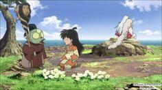 Jaken, Rin, and Sesshomaru - InuYasha screenshot