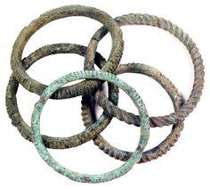 Ancient Celtic art relics bronze bracelets 500 – 200 BC. $210