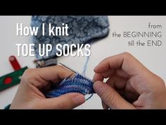 How to knit socks - toe up - two at a time - magic loop ❤︎ step by step tutorial ❤︎ knitting ILove ➤ LINKS This video is for people who ask questions 'How to knit socks?', 'How to knit socks on circular needles?' 'How t. Magic Loop Knitting, Knitting Videos, Knitting Charts, Knitting For Beginners, Knitting Stitches, Knitting Needles, Knitting Patterns Free, Knitting Projects, Free Pattern