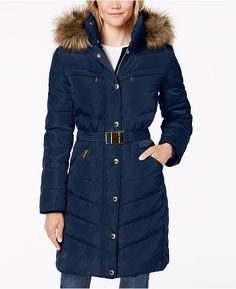 976e5383578 Faux-Fur-Trim Puffer Coat