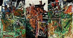 jean paul riopelle   Les Picandeaux 1967 oil on canvas in three panels