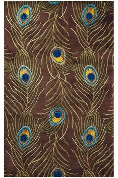 Plume Rug: a vibrant wool rug that feels wonderful underfoot. #peacock #HDCrugs HomeDecorators.com