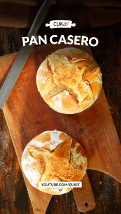 Biscuit Bread, Pan Bread, Bread Baking, Bread Recipes, Cooking Recipes, Tapas, Types Of Bread, Ciabatta, Kitchen Recipes
